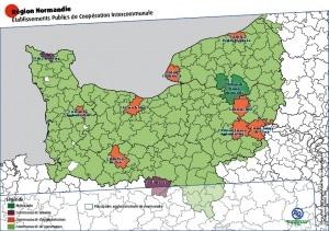 Nouvelle région Normandie - Établissements Publics de Coopération Intercommunale