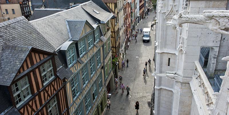Rouen - Rue de Martainville. AURBSE / JC Pattacini. IMG2290