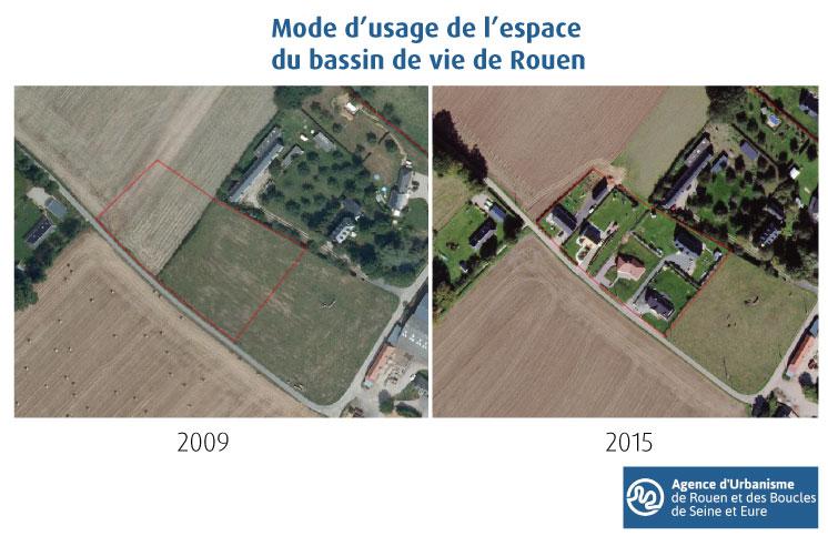 MUE - Evolution du poste 13 (activités agricoles) vers le poste 33 (habitat individuel peu dense)