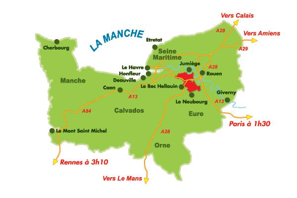 Carte de situation du Pays du Roumois