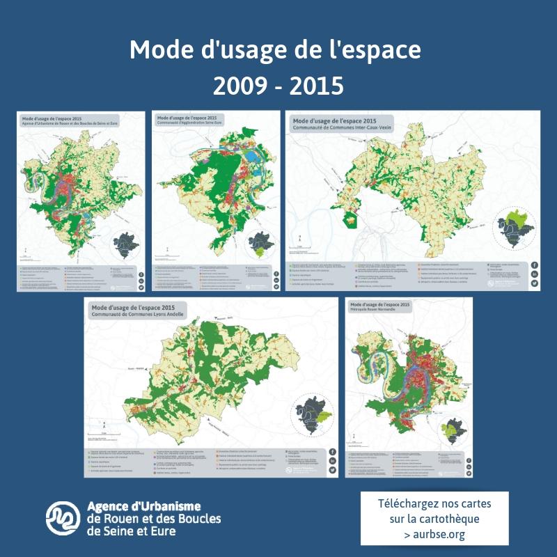 Mode d'usage de l'espace 2009 - 2015 - Cartothèque