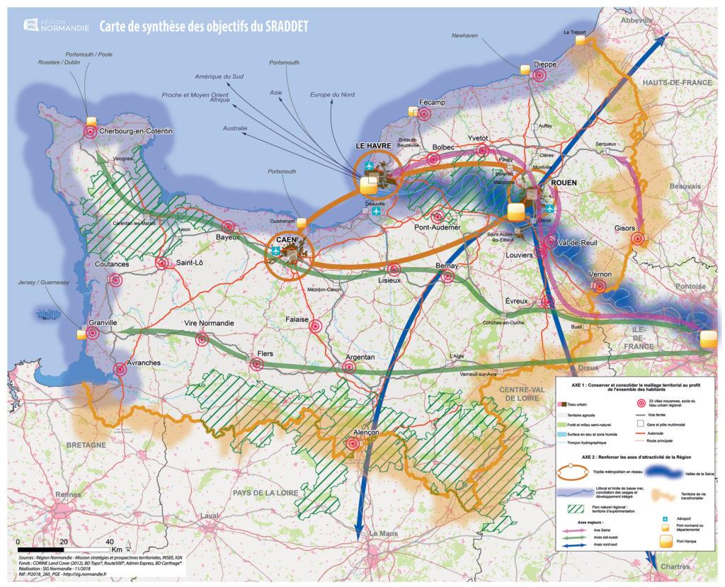 SRADDET - Carte de synthèse. Source : Région Normandie