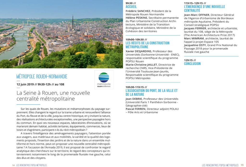 Rencontres POPSU Métropole - 12 juin 2019 - Rouen