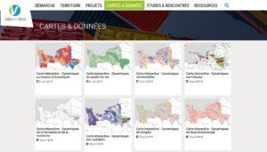 VdSeine.fr - Onglet cartes et données